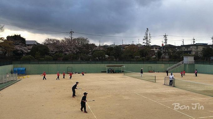 三重県桑名市 立花公園テニスコート テニスのBonJin