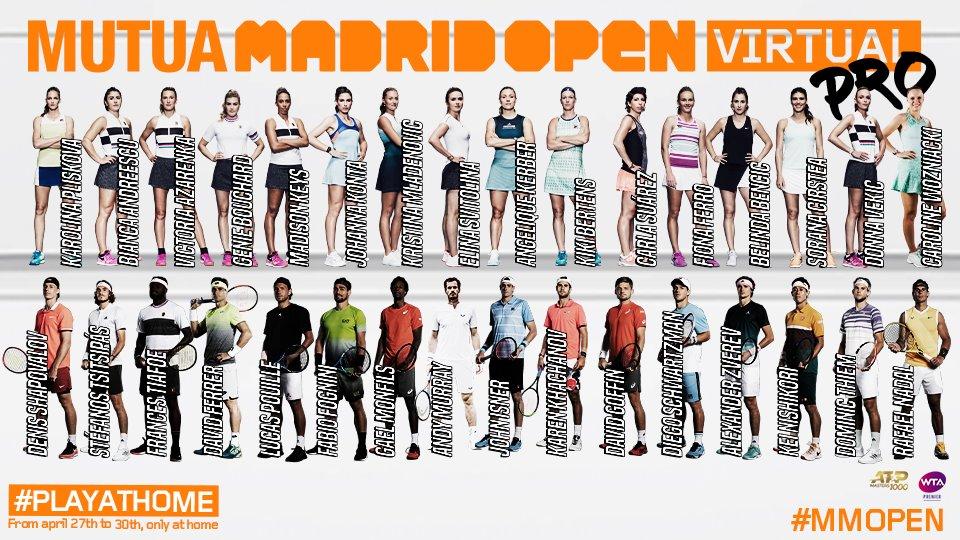 ムチュア・マドリードオープン Virtual PRO テニスのBonJin