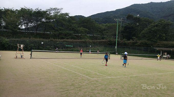 霞間ヶ渓スポーツ公園テニスコート テニスのBonJin