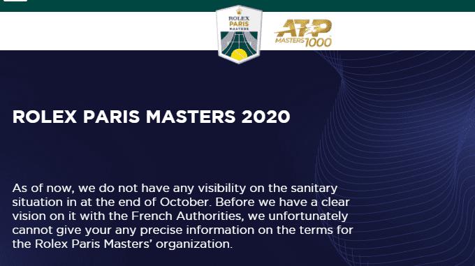 2020パリマスターズ テニスのBonJin