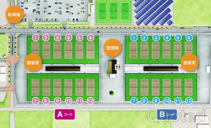 和倉温泉運動公園テニスコート ウェブ引用画像 テニスのBonJin