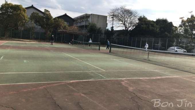 鶴城公園テニスコート テニスのBonJin